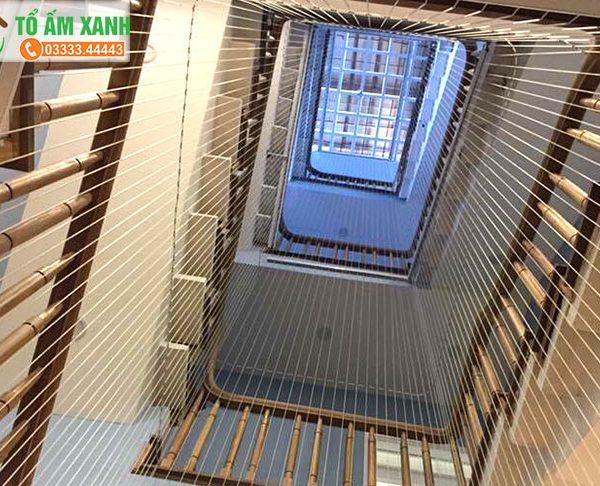 Lưới an toàn cầu thang trường mầm non